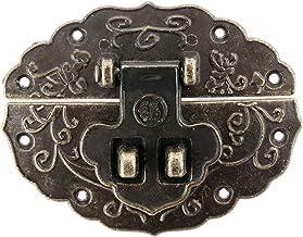 Nologo SSB-DAKOU 1 stuk messing antieke doos grendel sieraden deco box slot met schroeven hardware retro voor meubels lade...