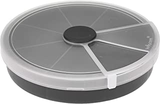Wham 13.01 Round 24Cm Organiser Box With 8 Divisions 23500_Graphite_Clear