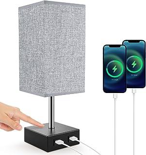 Lampe de Chevet, Lovebay Lampe de Table Tactile avec 2 Ports USB, 3 Niveaux de Luminosité RéGlables E27 Lampe de Chevet Mo...