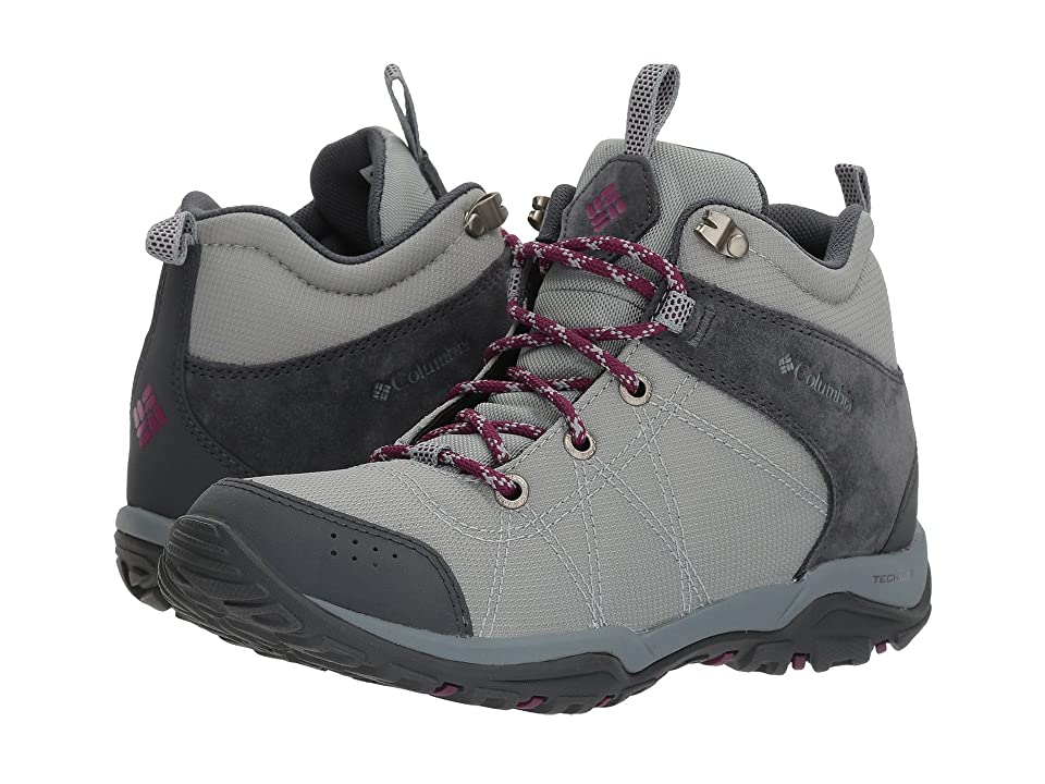 Columbia Fire Venture Mid Textile (Earl Grey/Dark Raspberry) Women