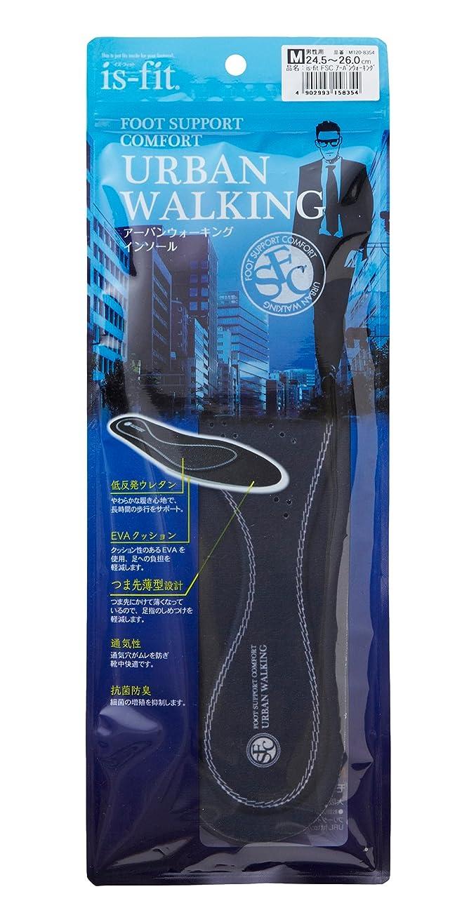 ヒールカスタムアクセスis-fit フットサポート アーバンウォーキング インソール 男性用 24.5~26.0cm?M120-8354