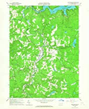 YellowMaps Newfoundland PA topo map, 1:24000 Scale, 7.5 X 7.5 Minute, Historical, 1966, Updated 1967, 26.9 x 22.1 in