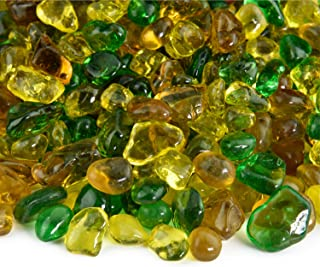 Sunny Vineyard - Blended Fire Glass Dots for Indoor and Outdoor Fire Pits or Fireplaces | 10 Pounds | 3/8 Inch