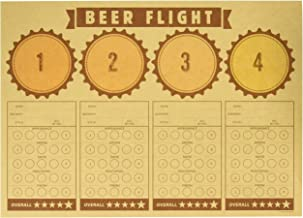 """Creative Converting 325085 Cheers & Beers Beer Flight Placemats Party Supplies, 14"""" x 10"""", Multicolor"""