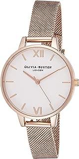Olivia Burton Womens Quartz Watch, Analog Display and Stainless Steel Strap OB16DE10
