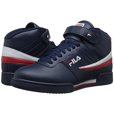 Fila F-13V Leather/Synthetic (Fila Navy/White/Fila Red) Men