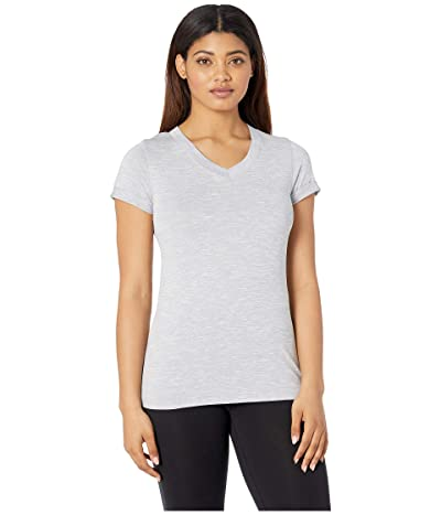 The North Face HyperLayer FD Short Sleeve V-Neck (TNF Light Grey) Women