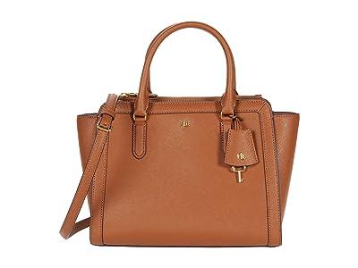 LAUREN Ralph Lauren Crosshatch Leather Brooke 27 Satchel Medium