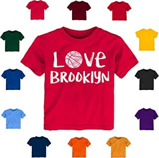 Future Tailgater Brooklyn Loves Basketball Baby-Toddler Tshirt