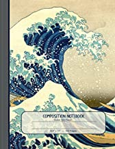 Composition Notebook: Journal (Large) - Guitar Tab Music Paper Book - Hokusai Wave Japanese Art
