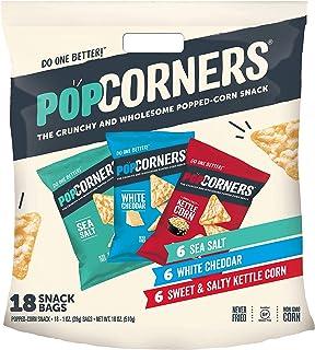 Popcorners Snacks Variety Pack | Gluten Free Chips Snack Packs | Kettle Corn, White Cheddar, Sea Salt | ( Pack, 1 oz Snack...