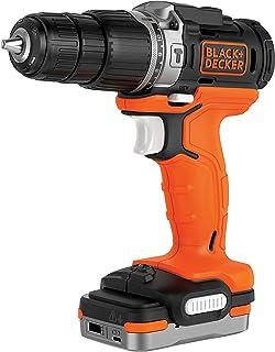 comprar comparacion BLACK+DECKER BDCHD12S1-XJ - Taladro Percutor 12V con batería litio 1.5 Ah, incluye cable USB de carga
