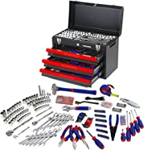 WORKPRO 408-Piece Mechanics Tool Set with 3-Drawer Heavy Duty Metal Box, W009044A