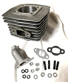 BGF G5 2019 Upgraded 66/80cc Silver 8mm Wider Intake Port (40mm) Cylinder Iron BORE with Intake Include for Motor Bike 2-Stroke Engine