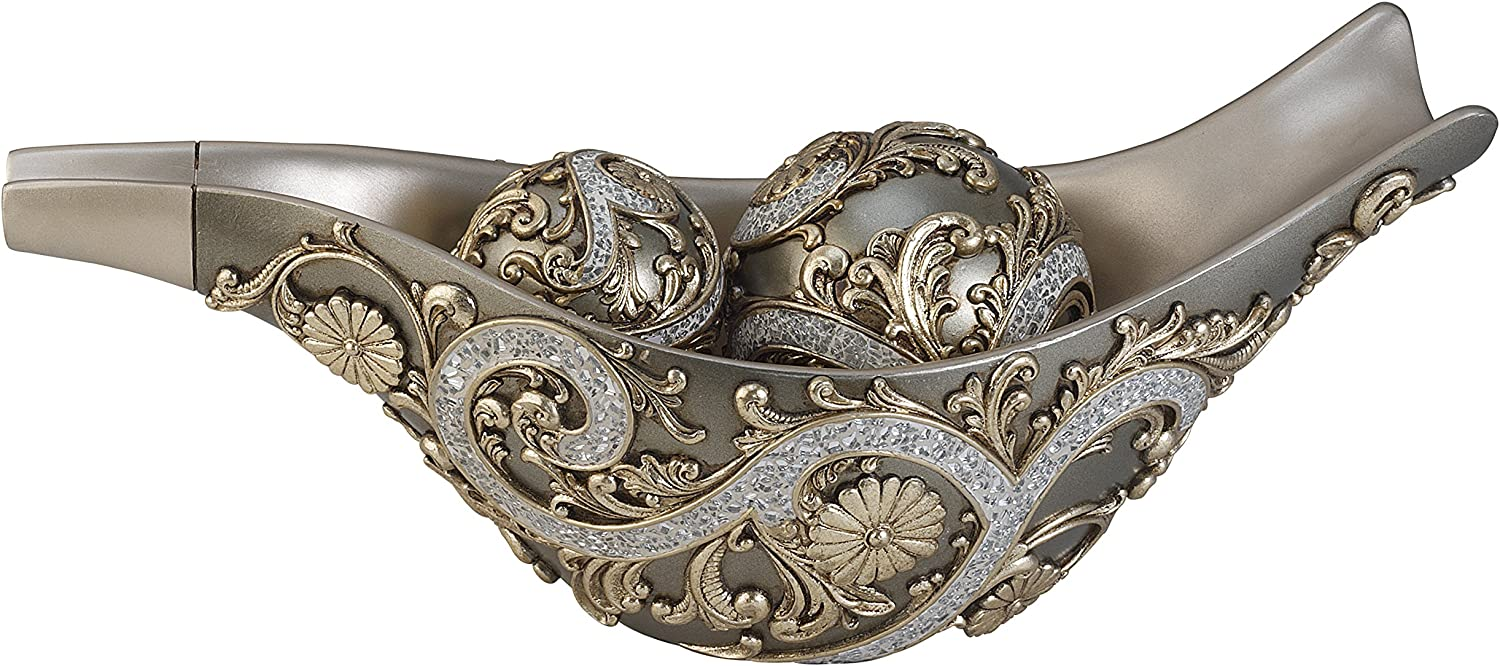 OK Lighting Silver New Orleans specialty shop Mall Vine Bowl Decorative Spheres with
