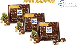 Lactose-free Milk Chocolate with whole Nuts 3 x 100 g, Ritter Sport/Germany