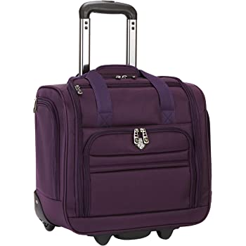 "Travelers Club 16"" Under Seat Carry-On, Purple, 16 Inch"