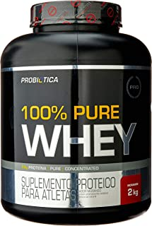 100% Pure Whey, Probiótica, Morango, 2000 g