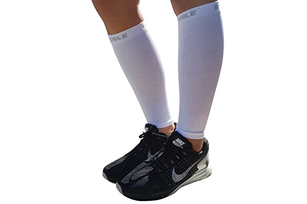 2bebf24ed1344 BeVisible Sports Calf Compression Sleeve - Shin Splint Leg Compression  Socks for Men & Women - Our Best Calf Sleeves for Running Cycling Air  Travel Support ...