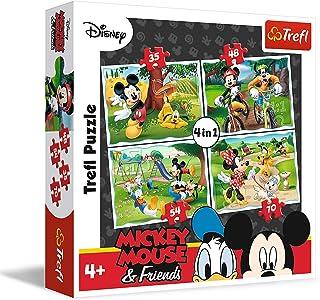 Trefl 34261 Puzzle 4 en 1 Mickey Mouse & Friends - 35 / 48 / 54 / 70 pièces