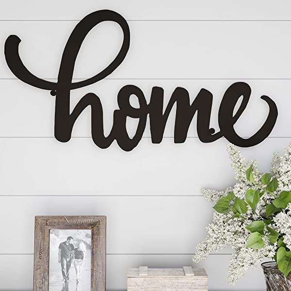 Lavish Home Metal Cutout Wall Sign 3D Word Art Home Accent Decor Perfect For Modern Rustic Or Vintage Farmhouse Style
