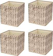 Livememory Cube Storage Bins, Fabric Storage Box Cubes Foldable Baskets Cube Containers for Cube Organizers Home Closet Be...