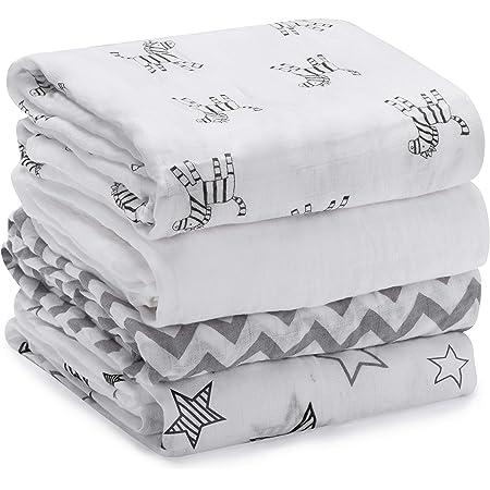 Muslin Swaddle Blanket 47\u2019x47\u2019 Newborn Baby Wrap Baby Shower Gift