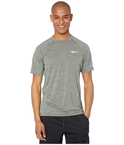 Nike Heather Short Sleeve Hydroguard (Galactic Jade) Men