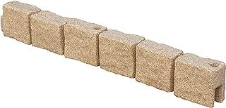True Form Plastic Flex-Wall Landscape Edging (4 Foot Section, Sandstone)
