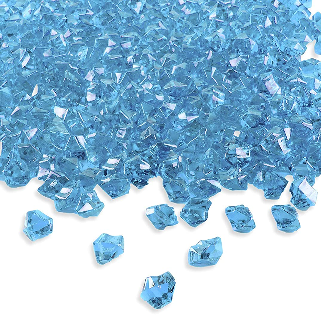 Acrylic Color Ice Rock Crystals Treasure Gems for Table Scatters, Vase Fillers, Event, Wedding, Arts & Crafts, Birthday,Party Decoration Favor (Blue)