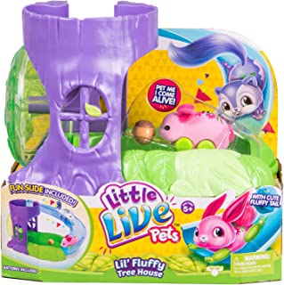 Little Live Pets S1 Lil' Fluffy Friends - Lil' Fluffy Tree House - Blossom Bunny