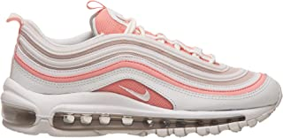 W Air Max 97 Womens Sneakers 921733-104, Summit White/Summit White-Bleached Coral, Size US 7.5