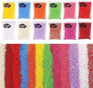 DECORA 240000 Pieces 2-3mm Mini Foam Balls Rainbow Styrofoam Beads Decorative Slime Beads for Slime Doll Vase Filling 12 Pack