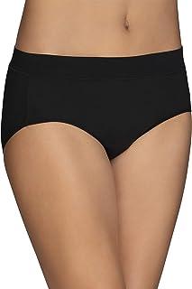 Vanity Fair Women's Beyond Comfort Microfiber Panties with Stretch, Hipster - Seamless Waistband - Black, 5