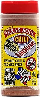 Obie-Cue's Texas Soul - Historic Chili, Taco & Tex-Mex Spice Mix (8.4 oz)