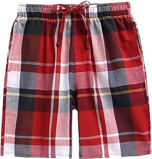 2049cfe0b2 TINFL 6-14 Years Big Boys Plaid Check Soft Lightweight 100% Cotton Lounge  Shorts
