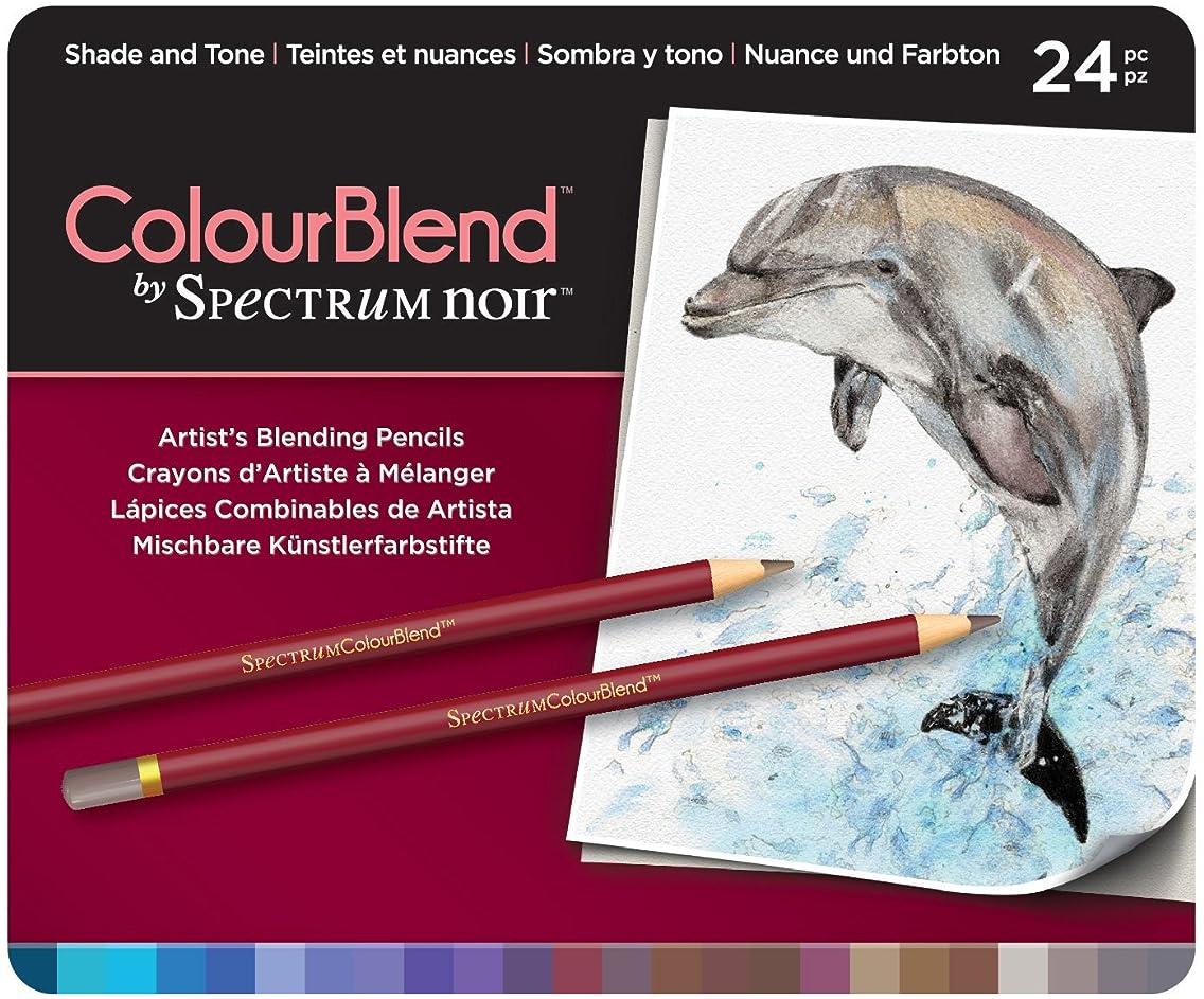 Spectrum Noir SPECCB-SHA24 ColourBlend Premium Blendable Artists Pencils, Shade and Tone, Pack of 24