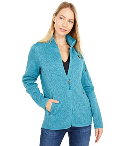L.L.Bean Sweater Fleece Full Zip Jacket (Evening Blue) Women