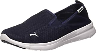 Puma Unisex Adult Flex Essential Slip On Peacoat White Running Shoes-8 UK (42 EU) (9 US) (36527308_8)