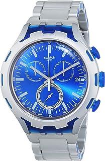 Swatch Men's YYS4001AG Irony Analog Display Swiss Quartz Silver Watch
