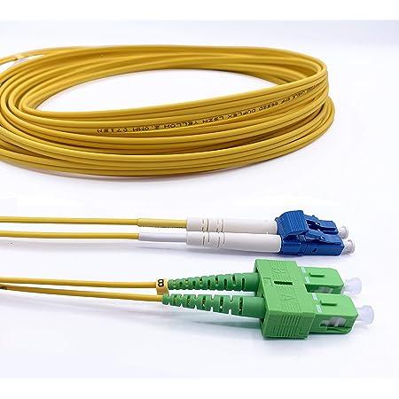 Fiber Netzwerk 1-m OS2 Single-Mode 09//125 /µ R/&M LWL Patch-Kabel Glasfaser Duplex E2000 APC auf LC Stecker