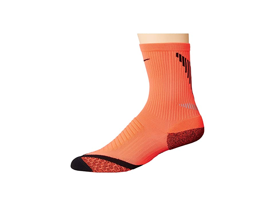 Nike Elite Running Cushion Crew (Bright Crimson/Black/Black) Crew Cut Socks Shoes
