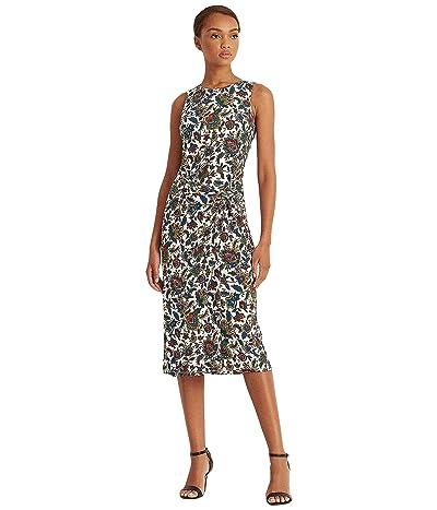 LAUREN Ralph Lauren Ascot-Print Jersey Sleeveless Dress