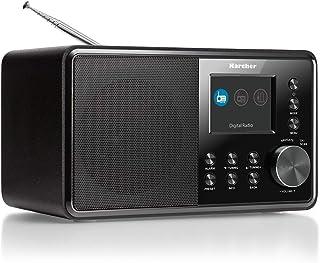 Karcher DAB 3000 digitale radio (DAB+/FM-RDS, AUX-IN, wekker met dubbel alarm) zwart