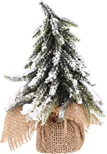 TOYMYTOY Artificial Christmas Tree Mini Snow Branches Pine Tree 20cm with Linen Cloth Bag Base Ornament for Holiday Table ...