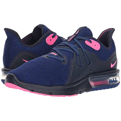 Nike Air Max Sequent 3 (Obsidian/Pink Blast/Deep Royal Blue) Women