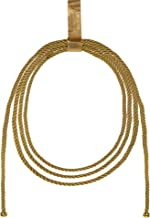 Suit Yourself Wonder Woman Lasso, Metallic Gold Fabric with a Hook-and-Loop Tab, Measures 10 1/2 Inches Long