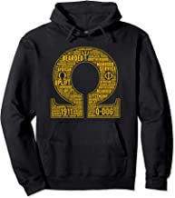 Mens Omega 1911 Psi Words Hand Sign Phi Bull Dog Pullover Hoodie