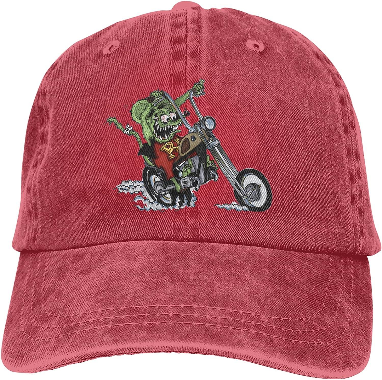 Fangpeilian Ratfink Retro Adjustable Hat Unisex Fashion Cowboy Hat Baseball Cap, Suitable for Sports, Outdoor, Daily