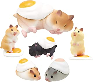 Kitan Club Hamster 'N Egg Plastic Toy - Blind Box Includes 1 of 6 Collectable Figurines - Fun, Versatile Decoration - Authentic Japanese Design - Made from Durable Plastic